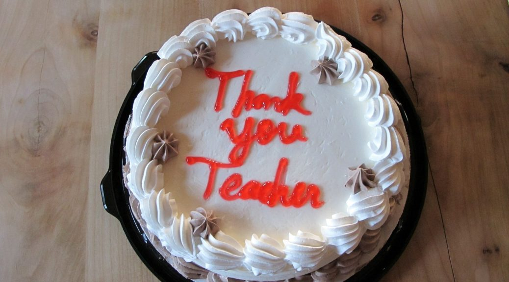 leerkracht juf meester bedankt einde schooljaar