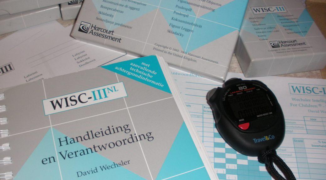 wisc 3 wisc III scoreformulier onderzoek intelligentie iq profiel