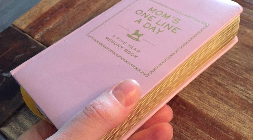 review dagboek journal vijf jaar one line a day mom